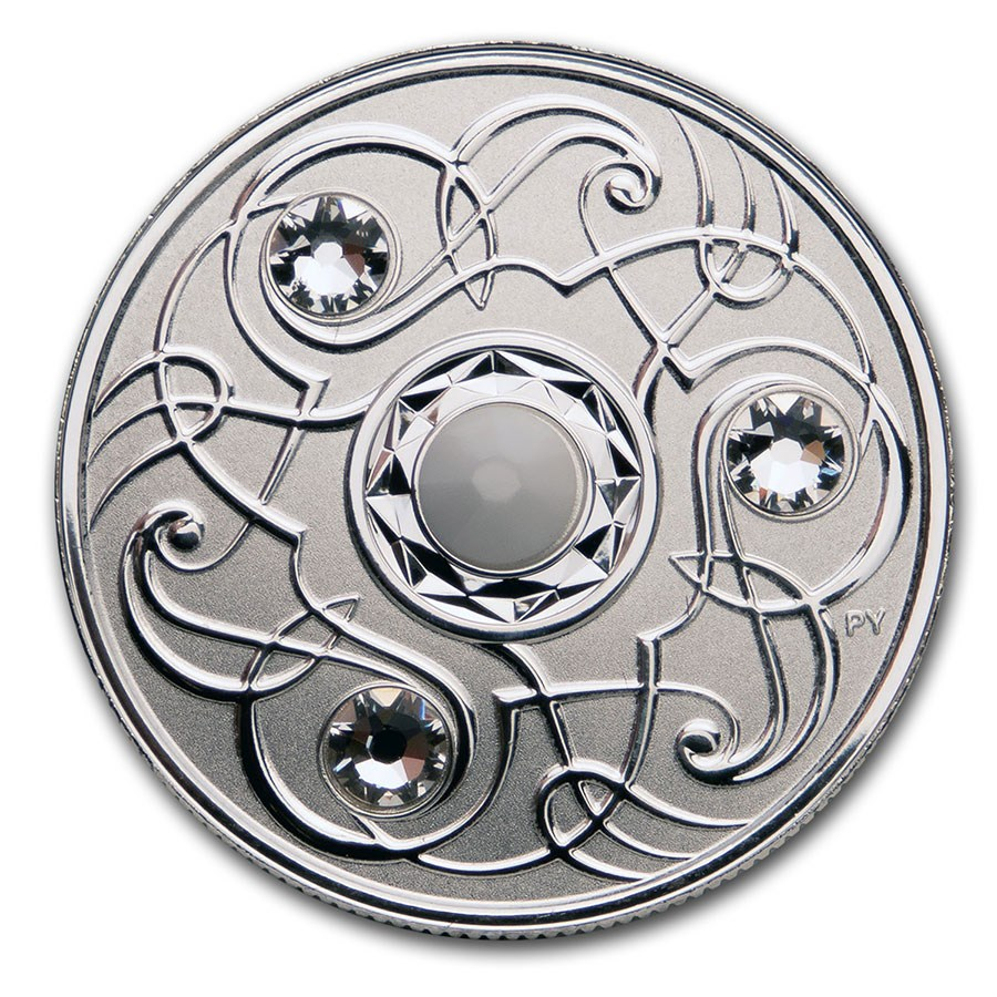Stříbrná mince Birthstone červen 1/4 oz