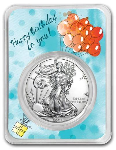 Stříbrná mince American Eagle - Birthday Balloons