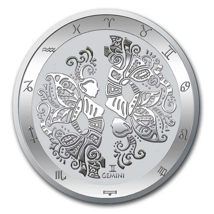 Stříbrná mince - Série zvěrokruhu: Blíženci