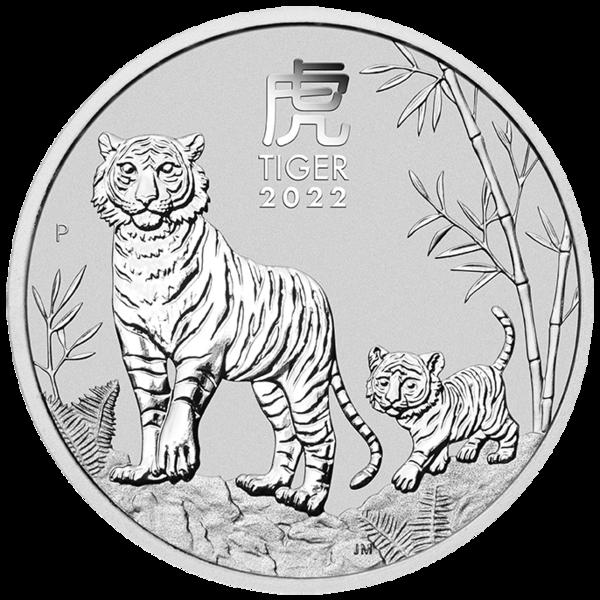 Stříbrná mince Rok Tygra Lunární 1 oz
