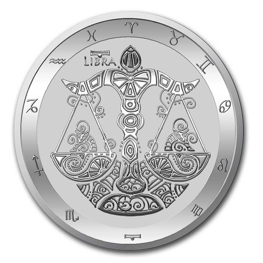 Stříbrná mince - Série zvěrokruhu: Váhy