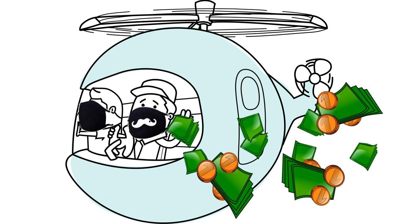 Obrázek k článku Helikoptérové peníze