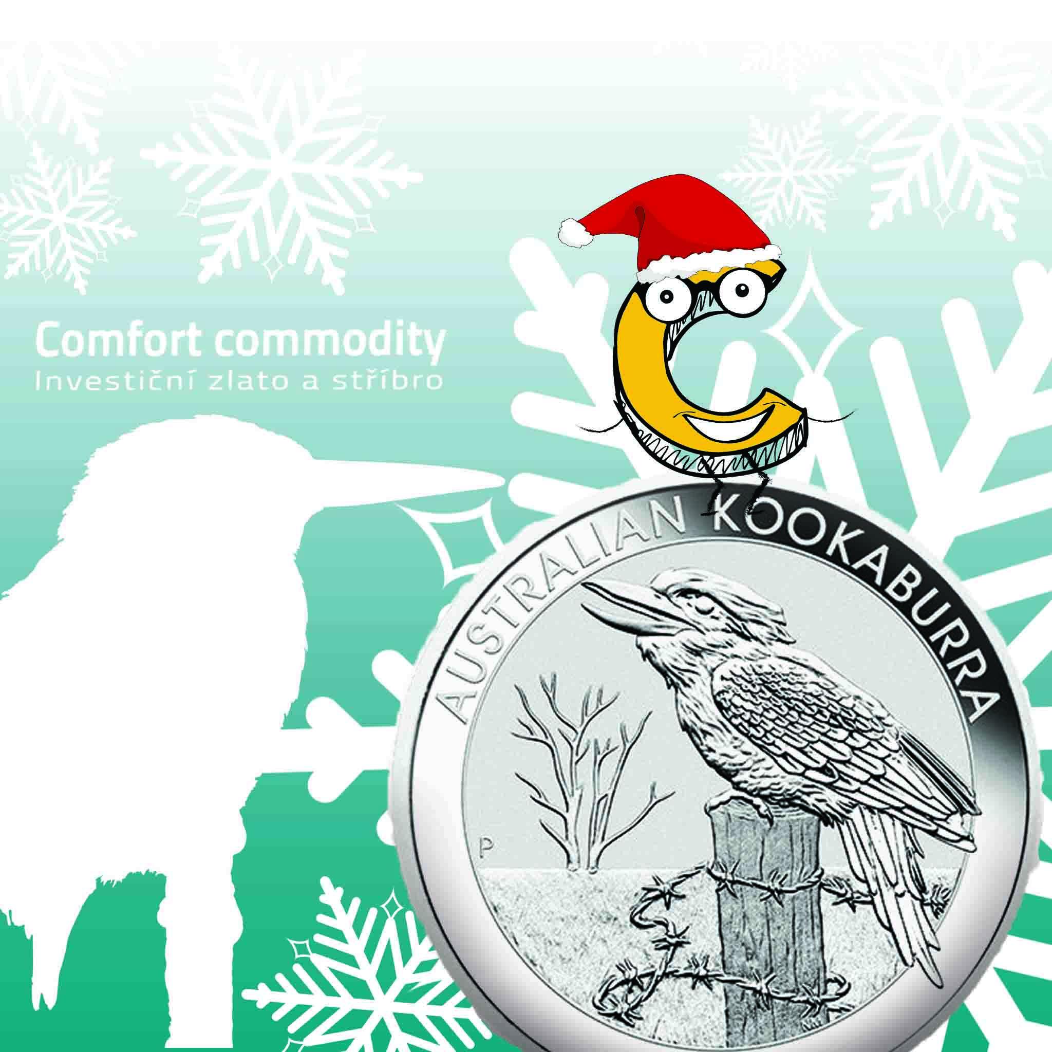 Stříbrná mince Australian Kookaburra 1 oz