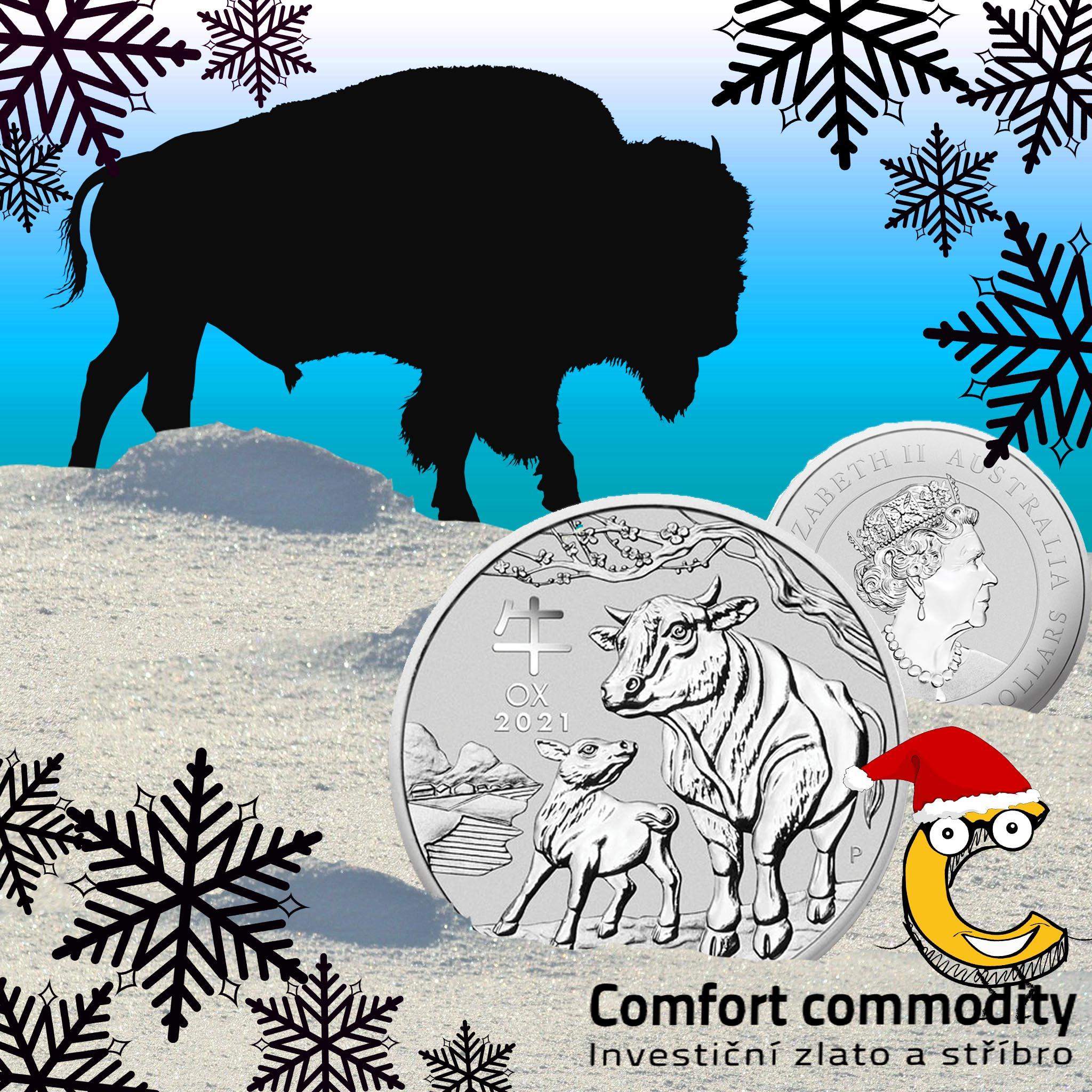 Stříbrná mince Rok Buvola Lunární 1 oz