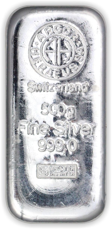Stříbrný slitek 500 g